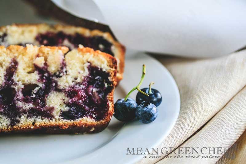 Blueberry Lemon Quick Bread Recipe | Mean Green Chef