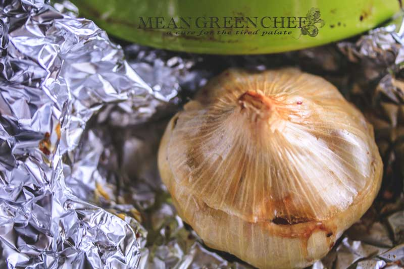 Oven Roasted Garlic Recipe | Mean Green Chef