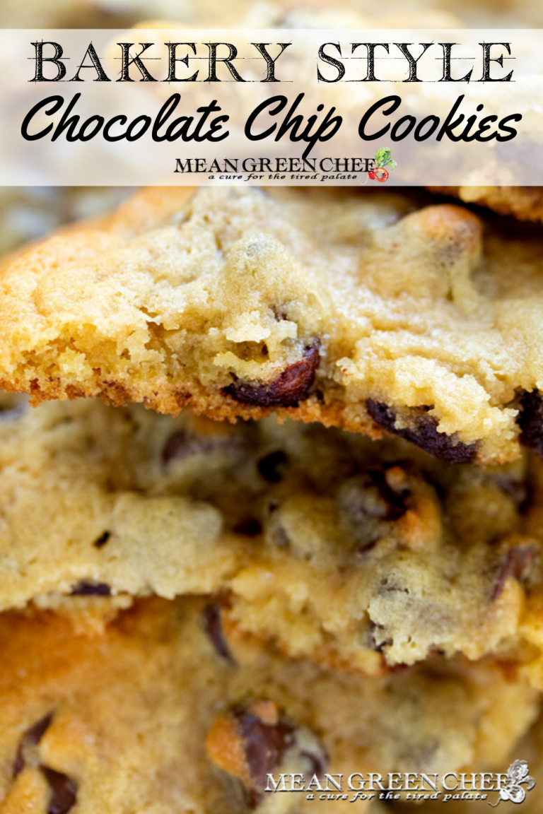 Bakery Style Chocolate Chip Cookies up close