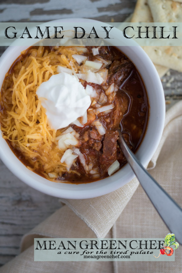 Game Day Chili Recipe | Mean Green Chef #chili #chilirecipe #chilipepper #superbowlfood #superbowl #recipes #meangreenchef
