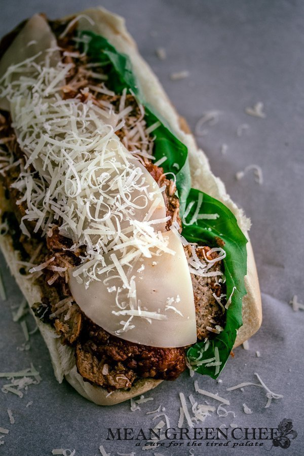 Meatball and Italian Sausage Subs with Pesto Recipe | Mean Green Chef