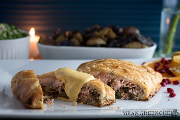 Wild Alaskan Salmon en Croute Recipe | Mean Green Chef