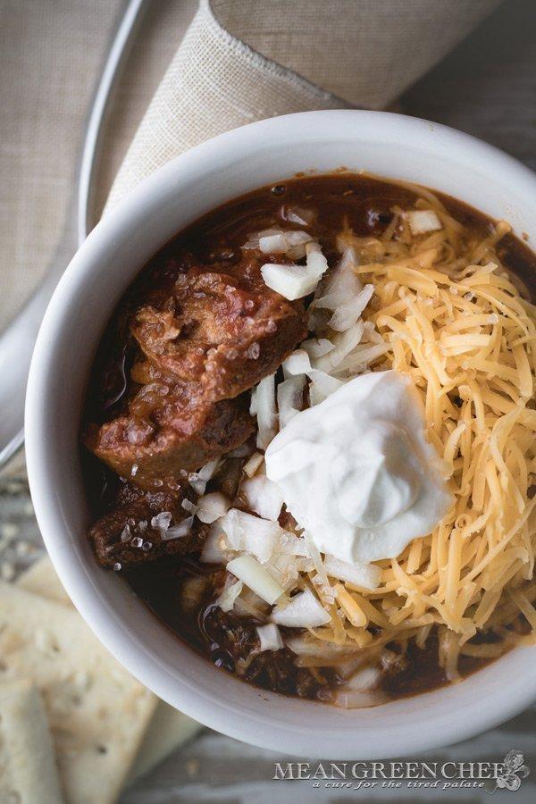 Game Day Chili Recipe | Mean Green Chef