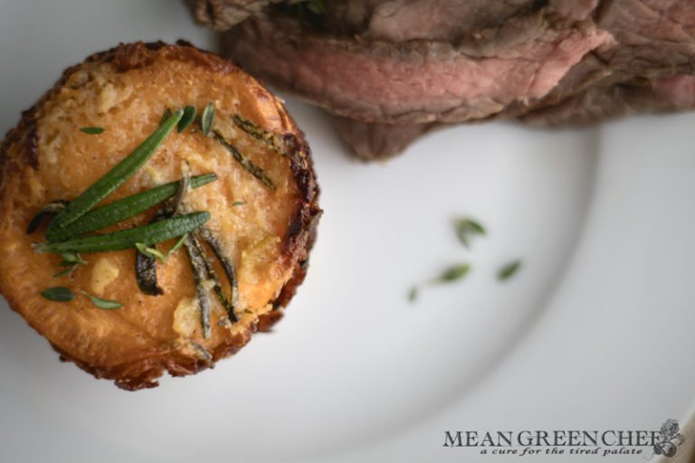 Steakhouse Potato Stacks with Rosemary