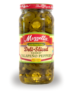 Mezzetta Deli Sliced Tamed Jalapeno Peppers for Jalapeno Popper Dip. Mean Green Chef