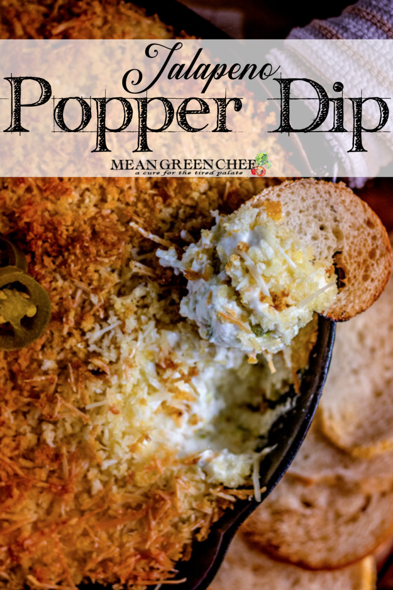 Close up of Jalapeno Popper Dip in a cast iron skillet