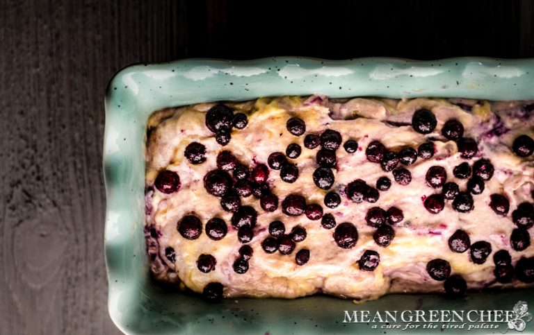 Batter for Rustic Blueberry Banana Bread