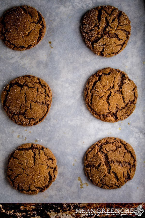 Best Ever Molasses Cookies on a sheet pan