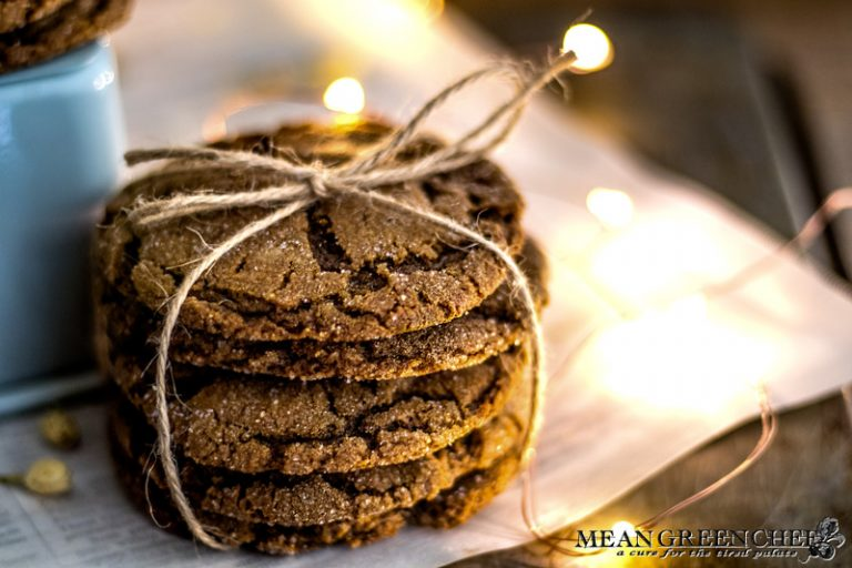 Stack of Molasses Cookies, tied with twine