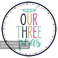 Our Three Peas Link Party logo