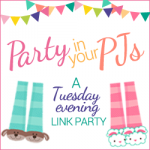 Party in Your PJs Link Party Logo