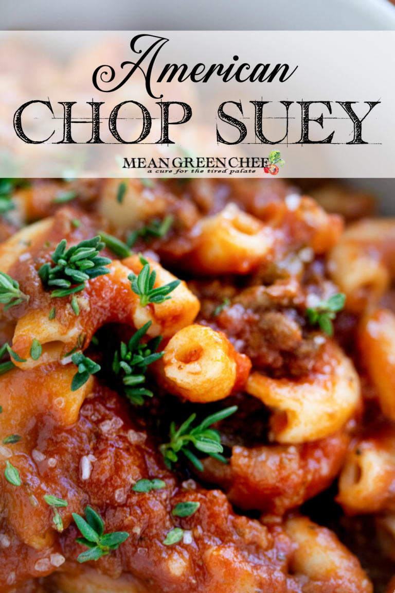 Close up of American Chop Suey