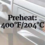 Preheat oven to 400°/204°C