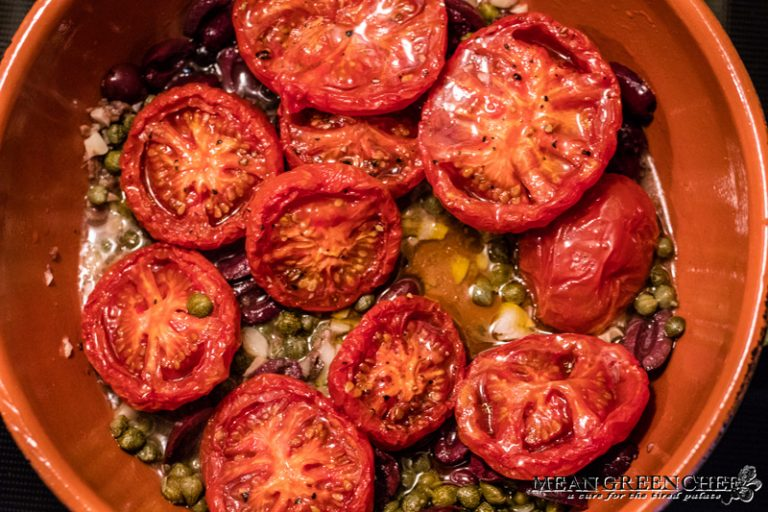 Slow Roasted Tomatoes used for Seafood Arrabbiata.