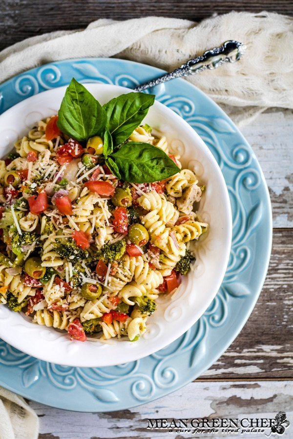 Easy Italian Chicken Pasta Salad