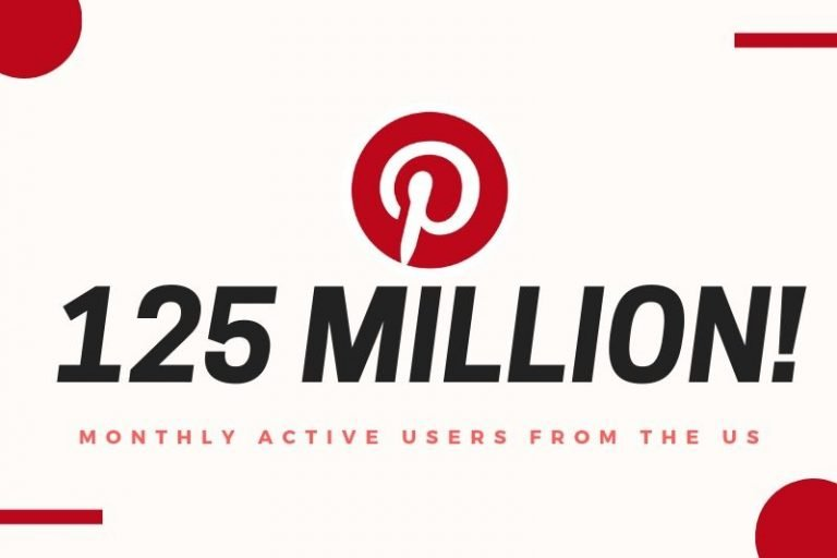 US monthly users on Pinterest.