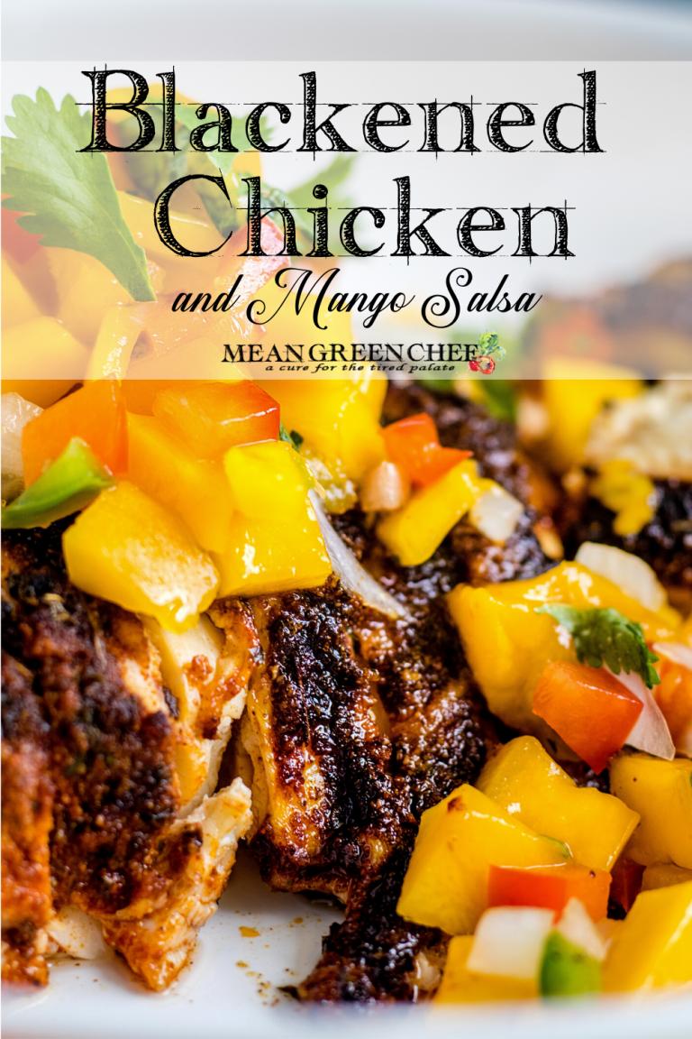 Blackened Chicken + Mango Salsa plated