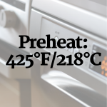 Prehat oven to 425