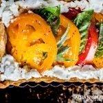 Close up of Heirloom Tomato Tart