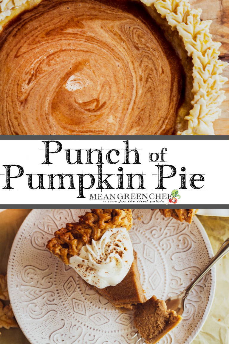 Punch of Pumpkin Pie garnished with vanilla bean whipped cream.