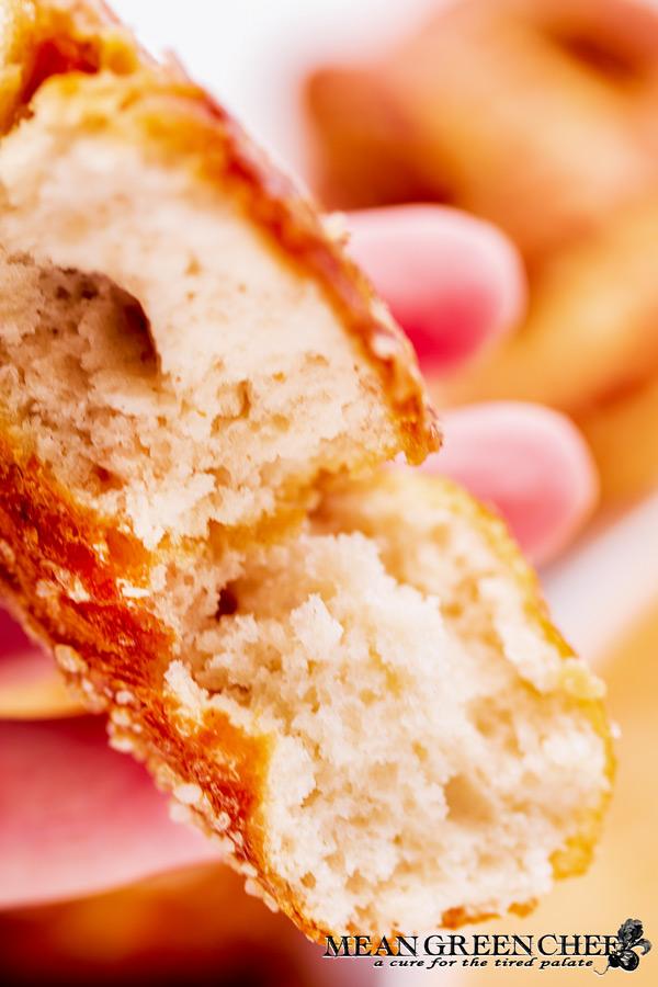 Close up of a soft hot pretzel