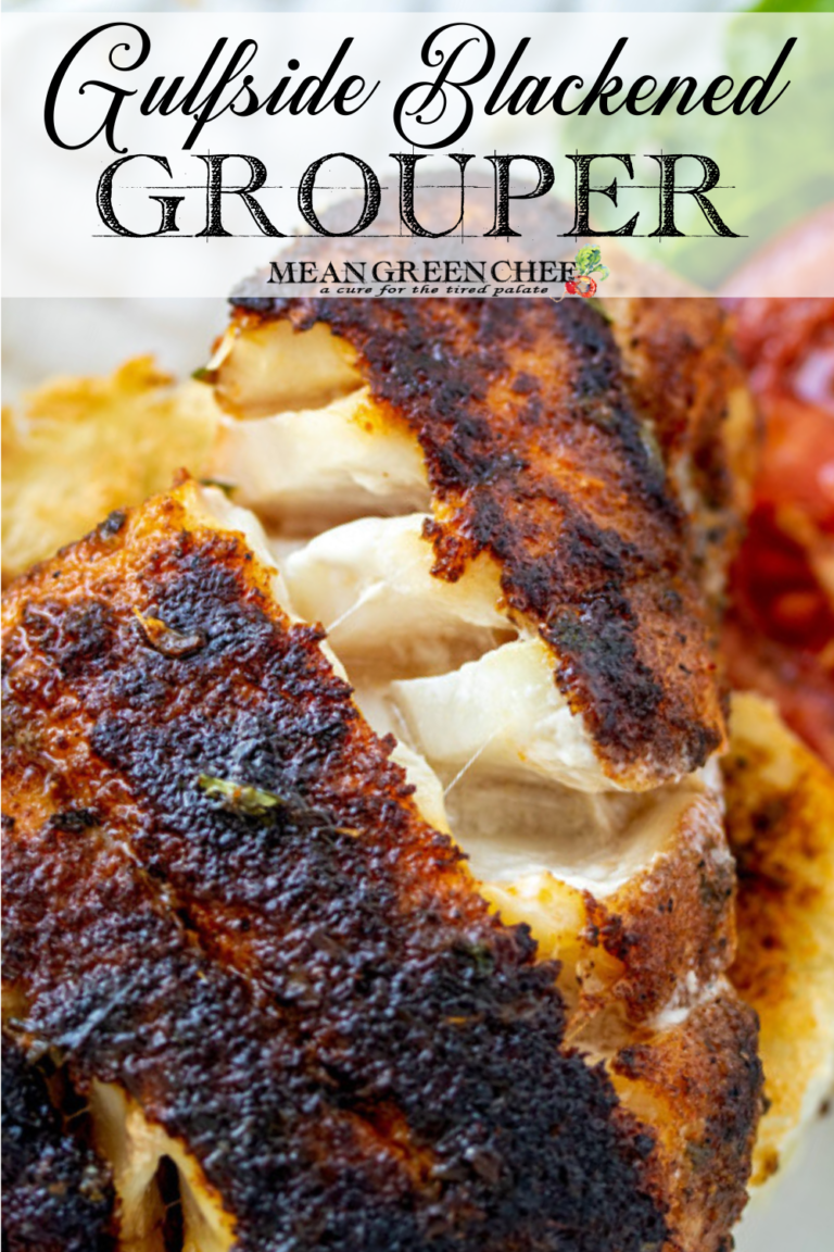 Gulfside Blackende Grouper sandwich for Pinterest Pin